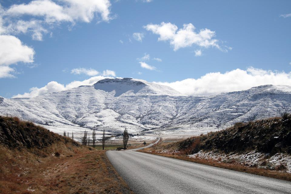 South Africa, Eastern Cape, Mountains, Snow, Winter
