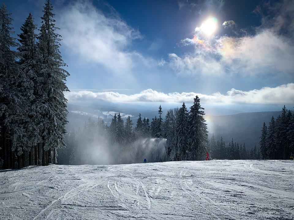 Mountain, Ski, Piste, Winter, Sunny Day
