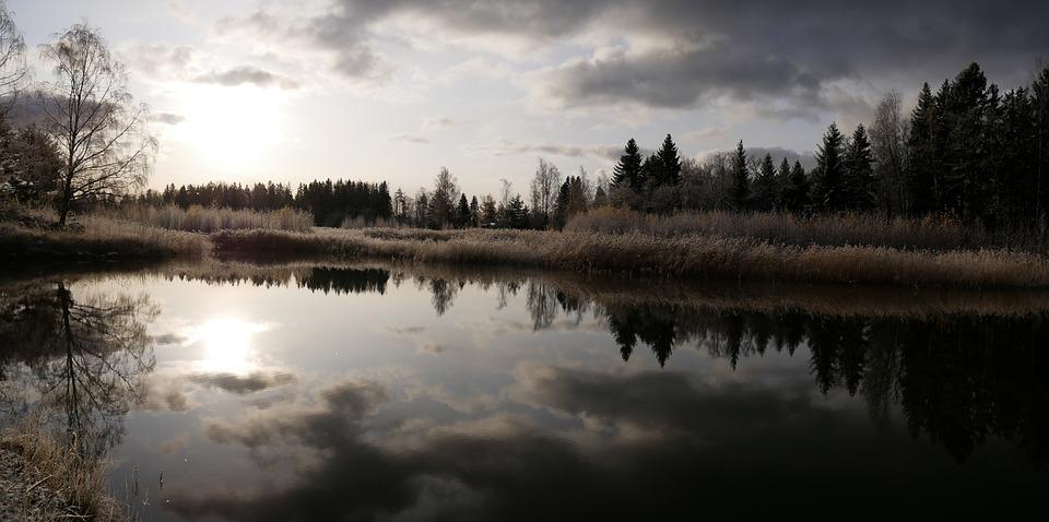 Sea, Nature, Water, Landscape, Sunset, Coast, Winter
