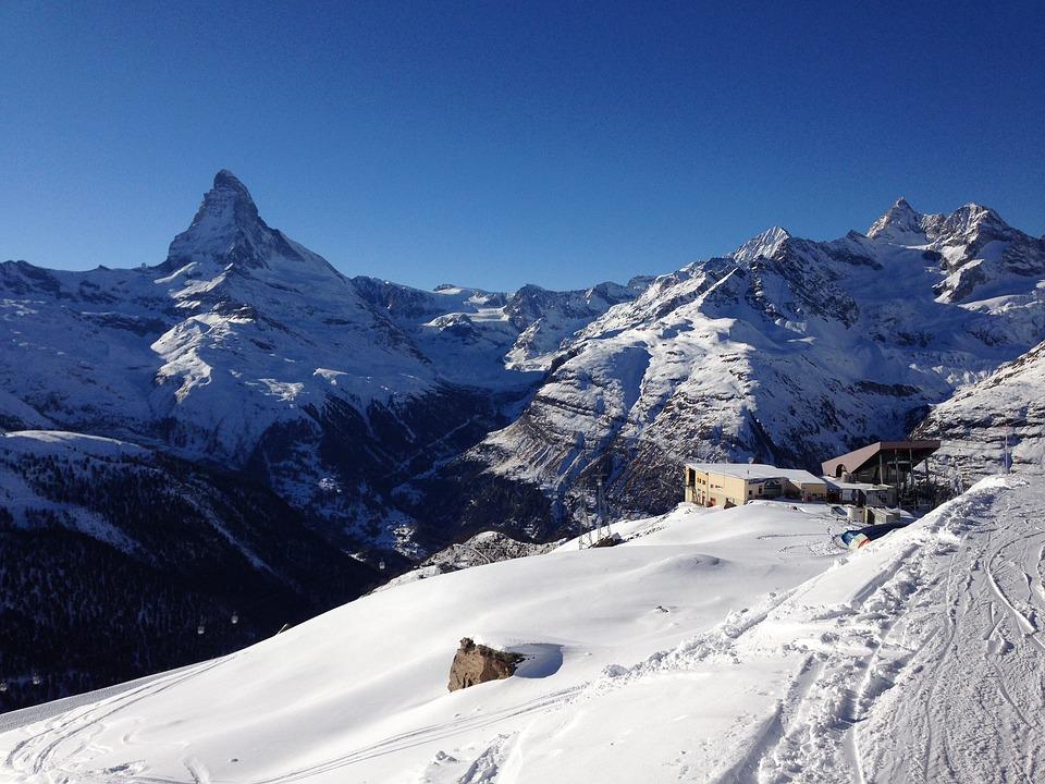 Winter, Swiss Alps, Snow, Ski, Matterhorn, Switzerland