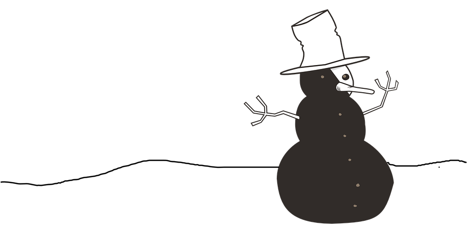 Snowman, Top Hat, Winter, Cold, Snow, Frosty