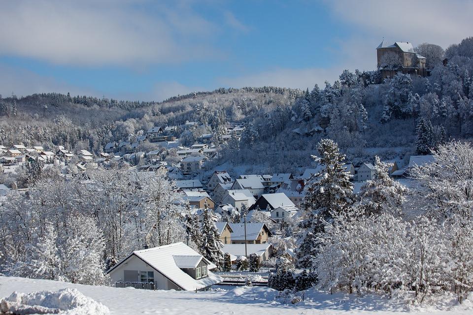 Castle, Ice, Winter, Wintry, Fairytale Landscape