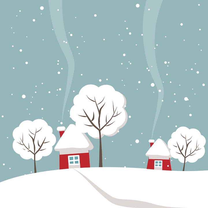 Wintry, House, Tree, Winter, Snow, White, Snowy