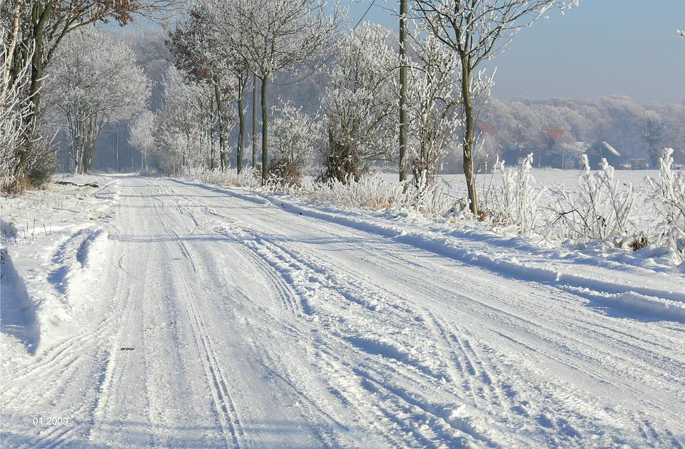 Winter's Day, Lane, Snow Cover, Landschaftsschtzgebiet