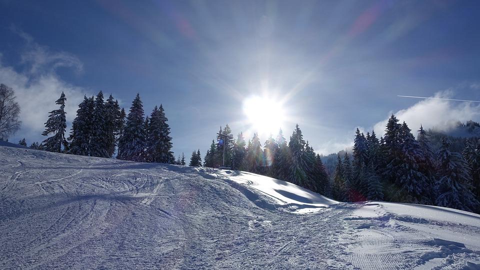 Winter, Landscape, Snow, Sun, Back Light, Wintry