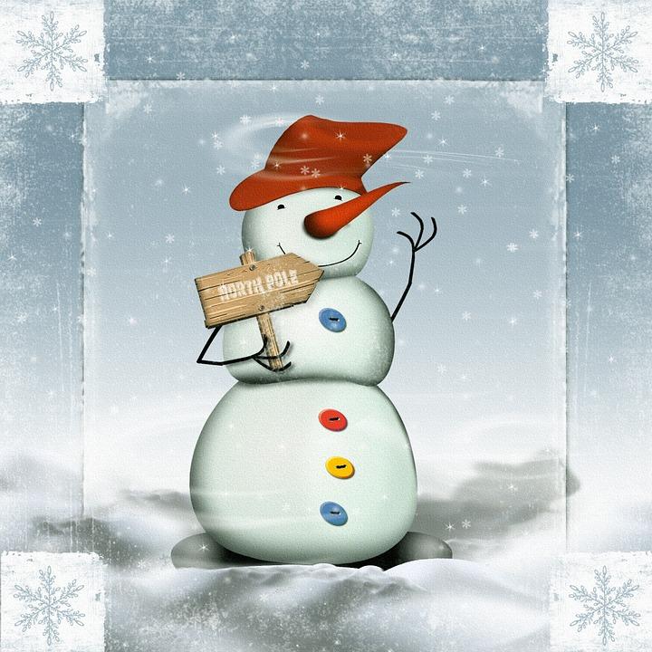 Snow Man, Winter, Snow, Cold, Wintry, Christmas