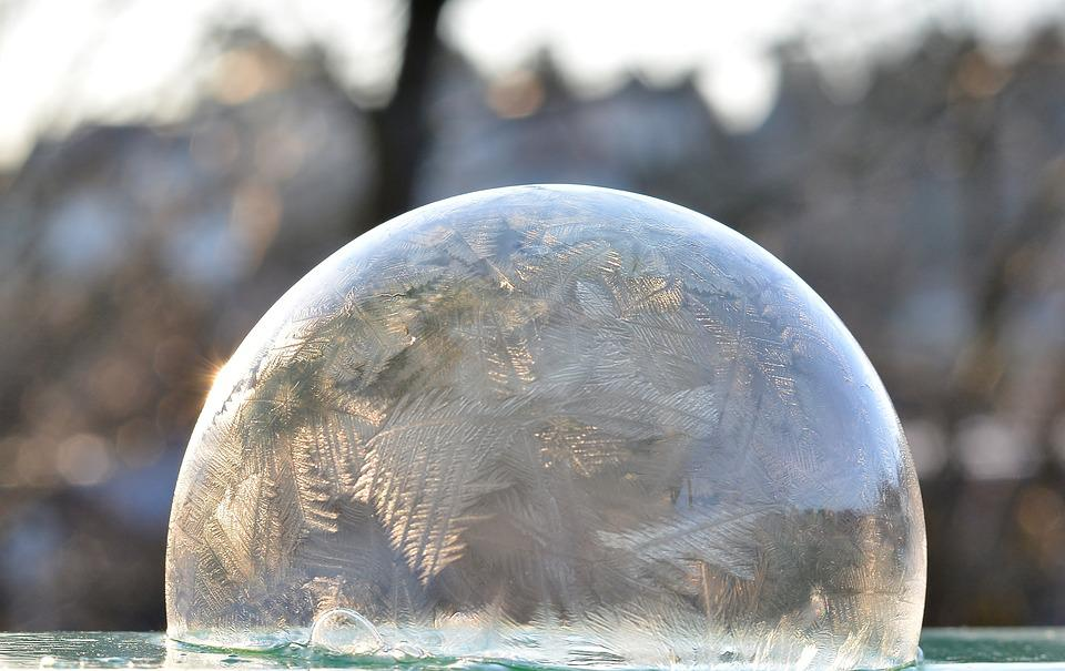 Winter, Frozen Bubble, Wintry