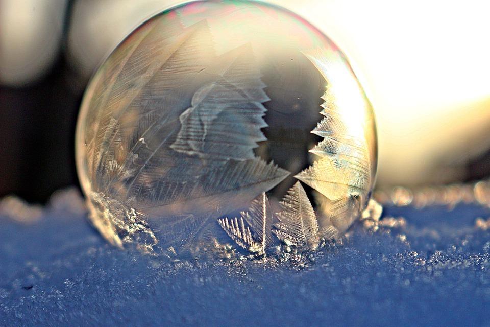 Ice Bubble, Ice Crystal, Frozen Bubble, Wintry, Freeze
