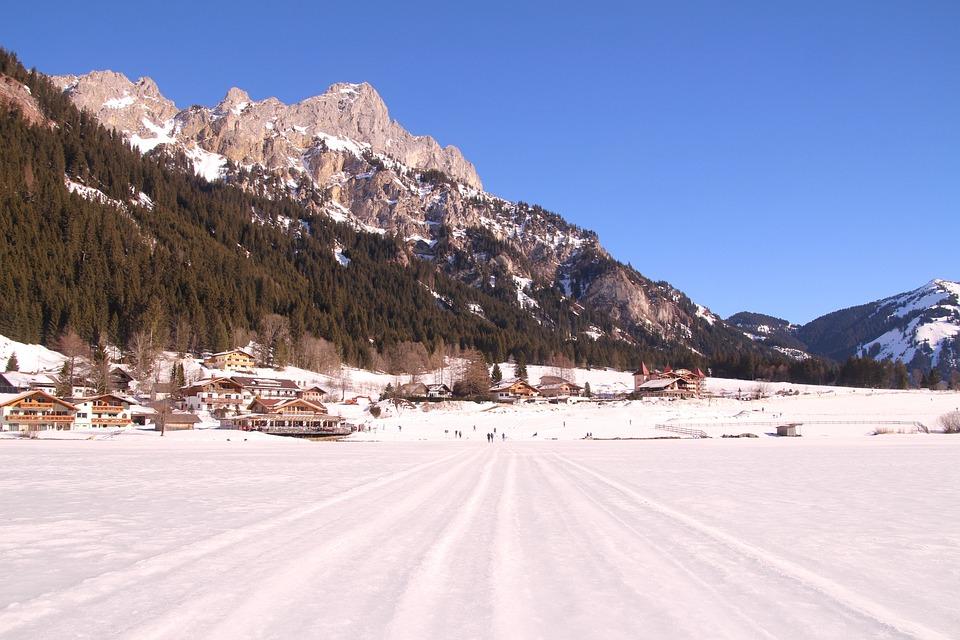 Wintry, Cross Country Skiing, Mountains, Alpine, Snow