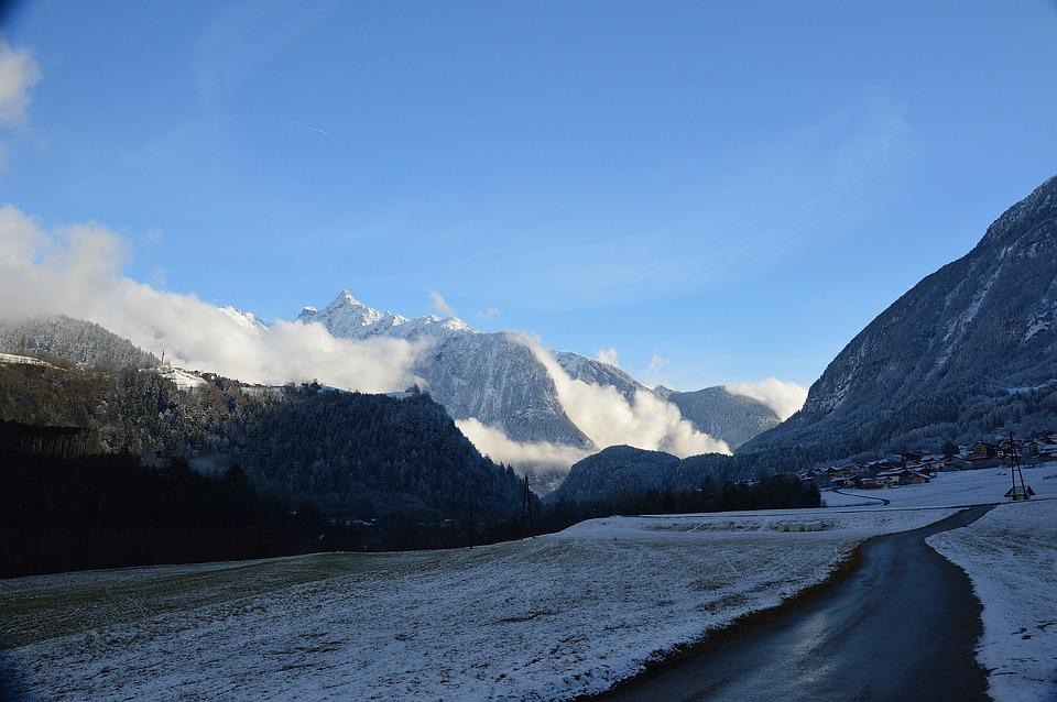 Sautens, Snow, Clouds, Winter, Tyrol, Austria, Wintry