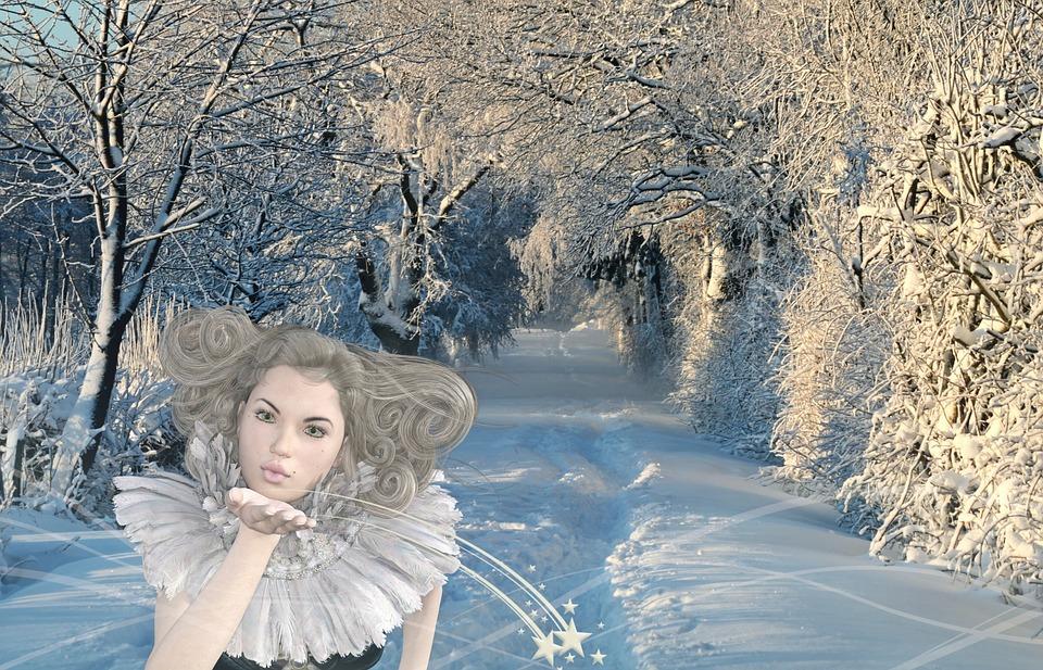 Girl, Fee, Winter, Snow, Snow Landscape, Wintry, Elf