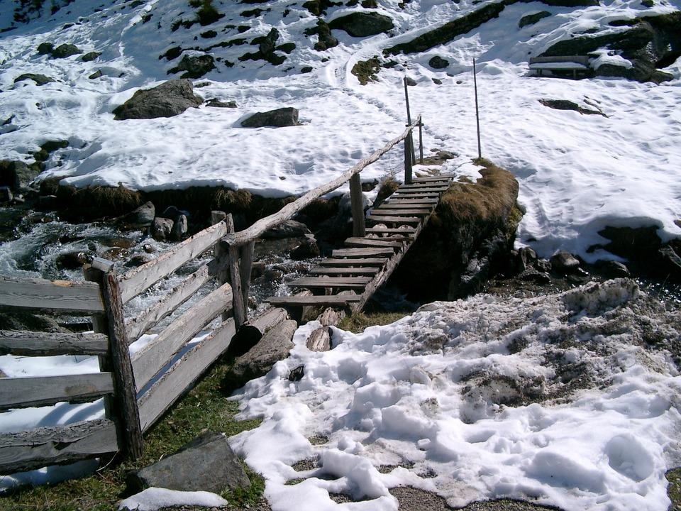 Bridge, Winter, Snow, Wintry, Web