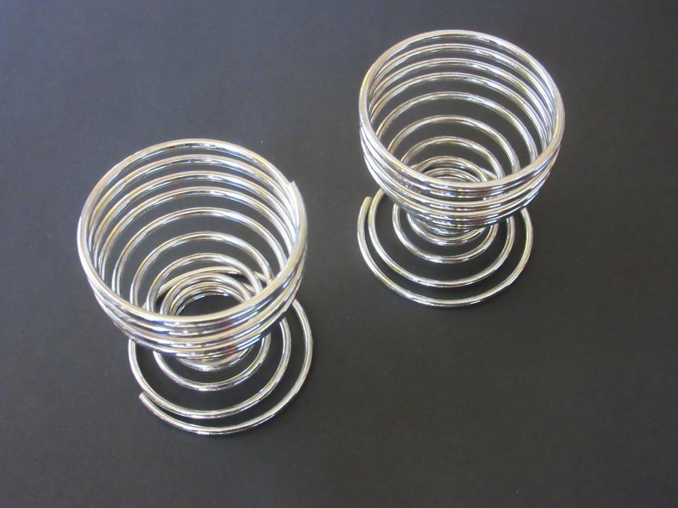 Egg Cups, Wire, Chrome Plated, Gloss, Metal, Kitchen