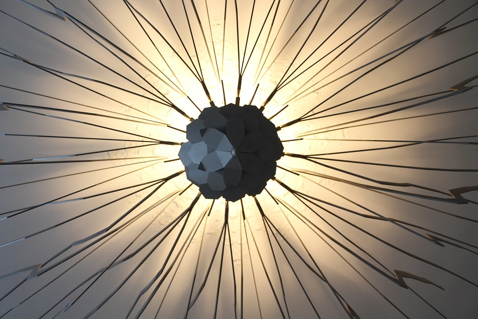 Pattern, Lamp, Light, Wire, Art, Design, Interior