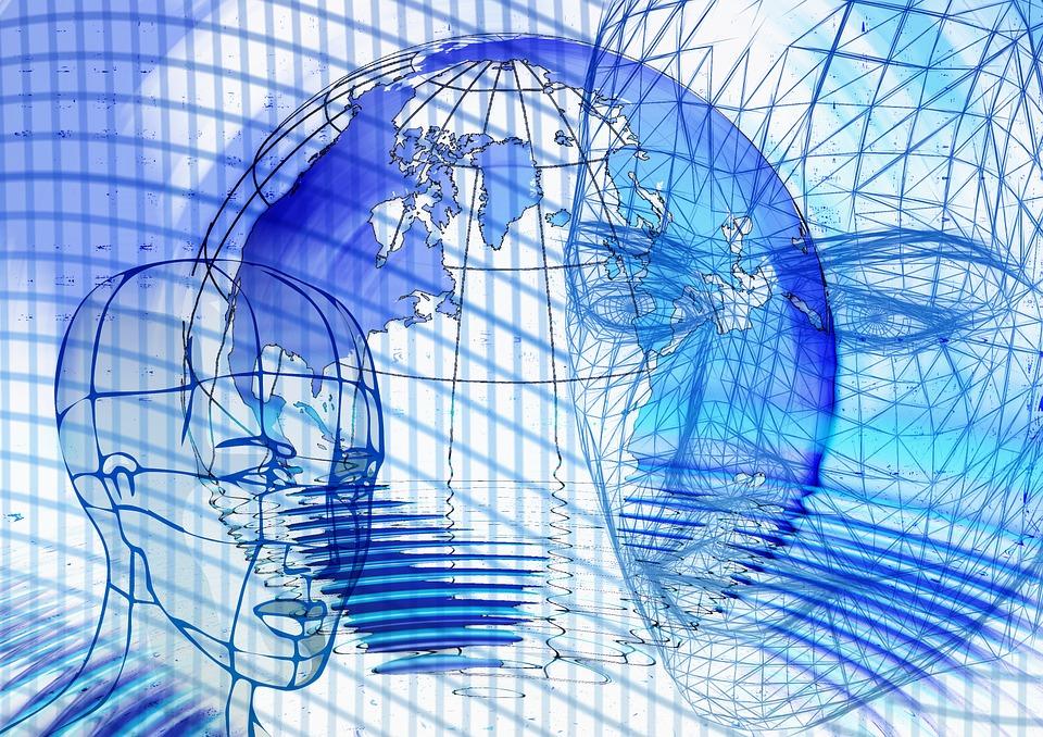 Head, Wireframe, Face, Globe, Earth, Planet, Global