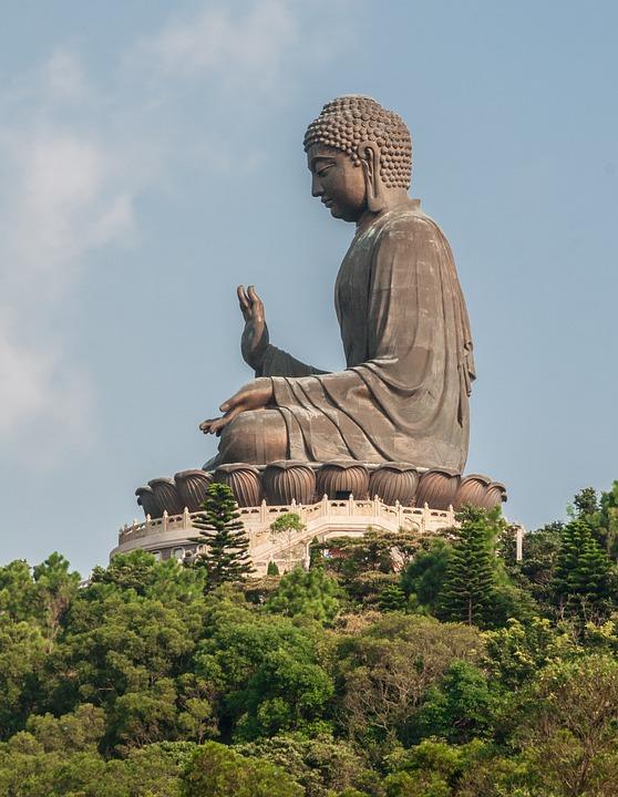 Giant Buddha, Tian Tan, Wisdom, Serenity, Lotus