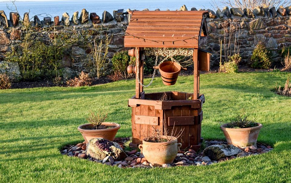 Garden, Wishing Well, Well, Wishing, Wooden, Wish