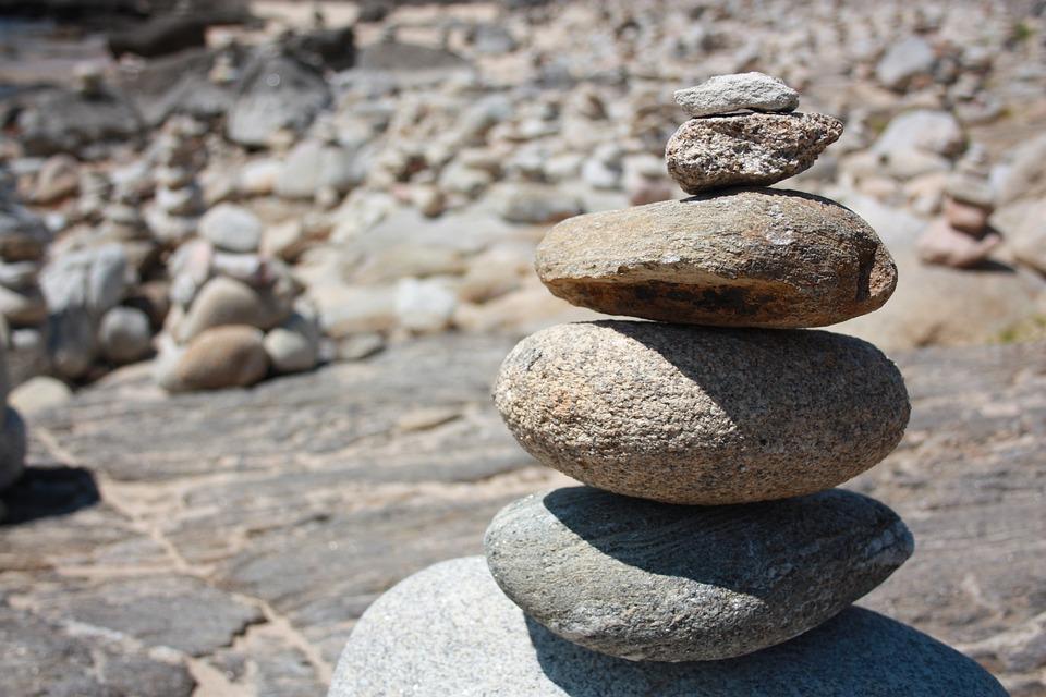 Stones, Wishes, Granite, Way Of St James, Balance