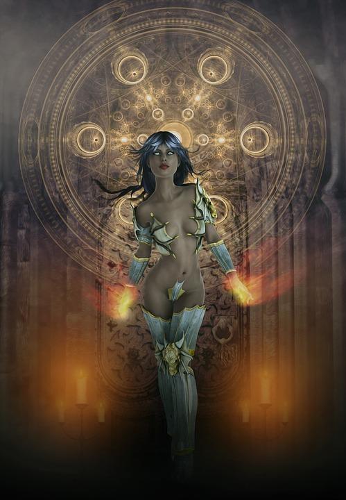 Gothic, Fantasy, Dark, Witch, Warrior, Woman, Female