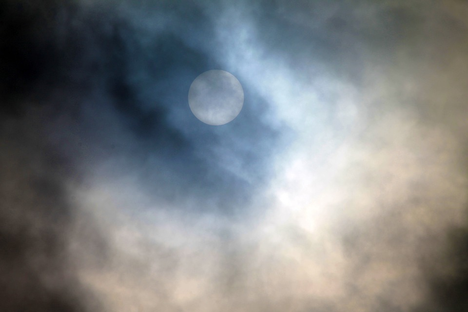 Full Moon, Moon, Midnight, Witching Hour, Clouds