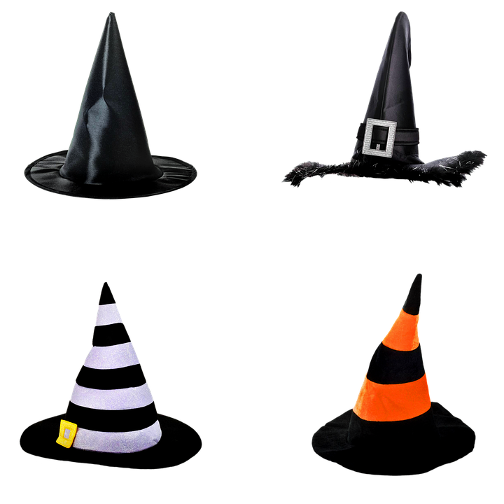 Hats, Icons, Witch's Hats Icons, Stickers, Witches