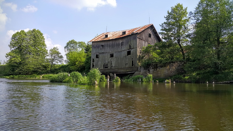 Wkra, Joniec, Old Mill, River