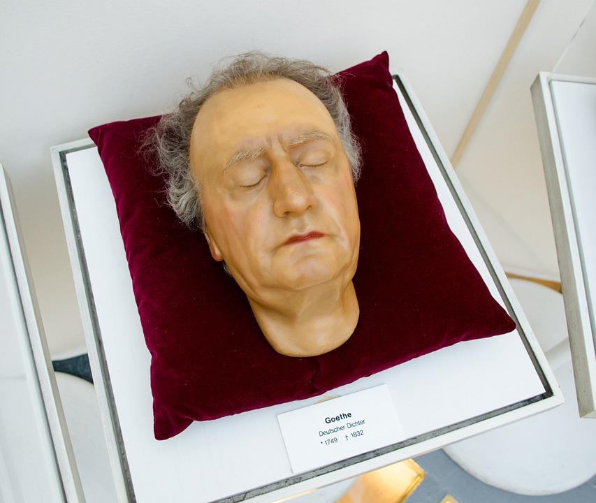 Johann, Wolfgang, Goethe, Death Mask, Wax Figure