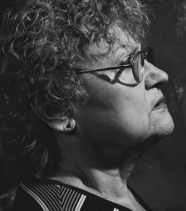 Woma, Glasses, Profile, Senior, Elder, Model, Face
