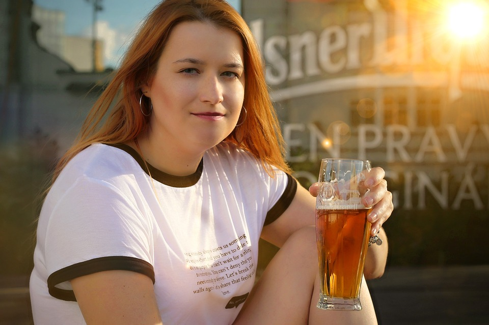 Beer, Girl, Woman, Alcohol, The Tradition Of, Young