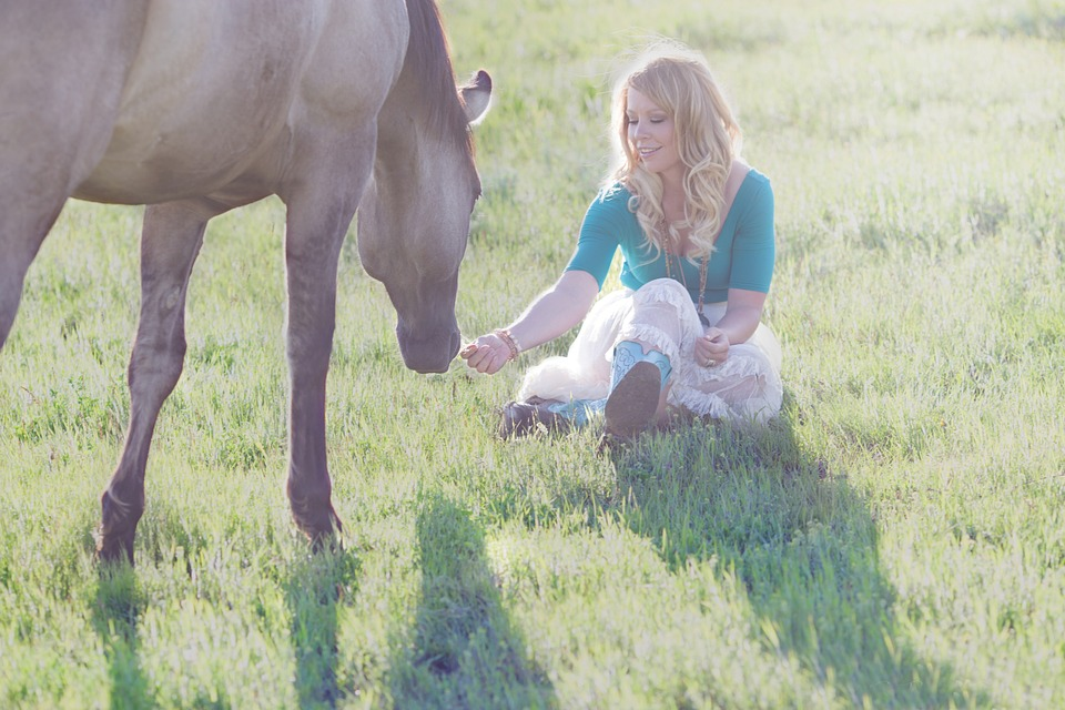 Horse, Girl, Woman, Animal, Female, Young, Outdoor