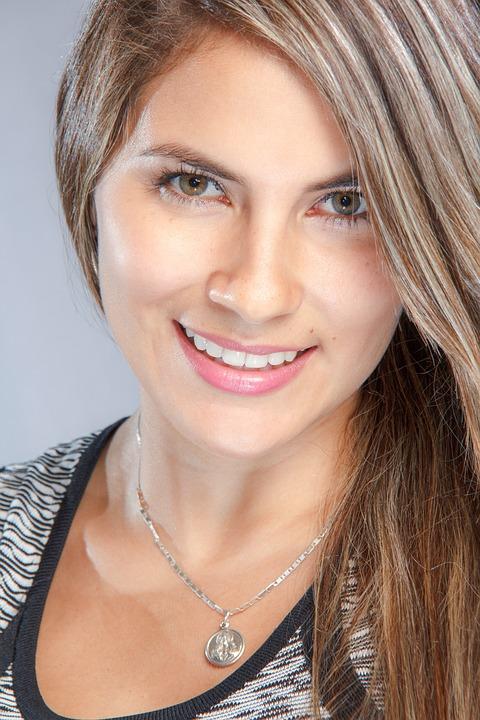 Closeup, Beautiful, Female, Face, Portrait, Woman