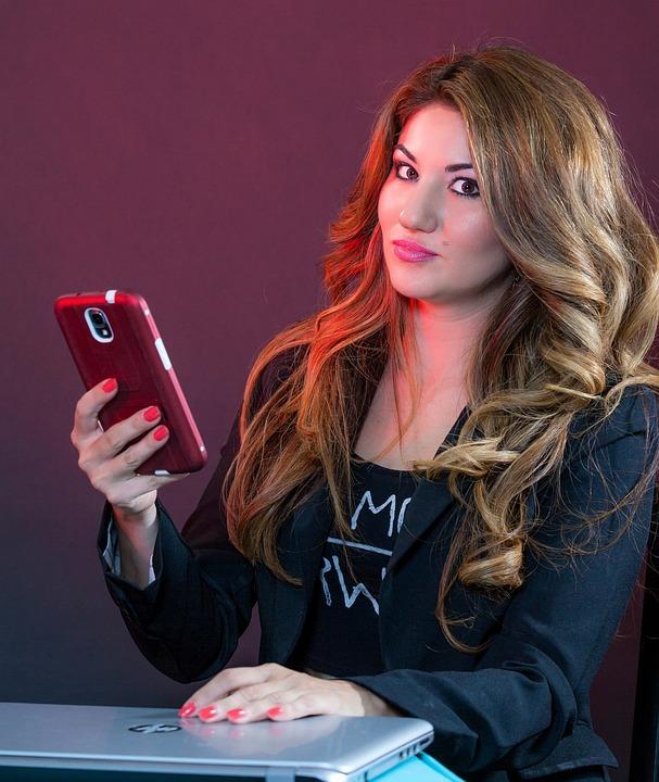Cell Phone, Woman, Entrepreneur, Model, Hair