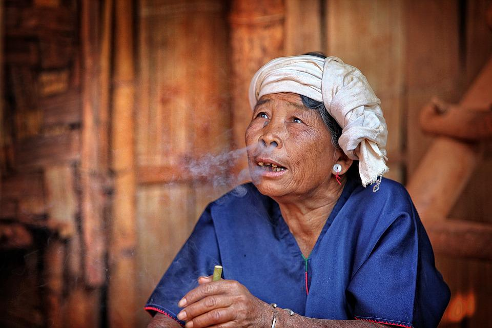 Woman, Myanmar, Cigar, Dried, Nicotine, Man, Narcotic