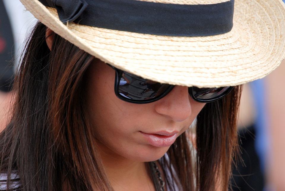 Girl, Woman, Hat, Clothing, Sun Glasses, Fashion