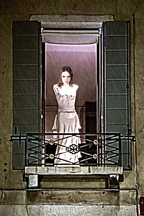 Woman, Spirit, Vampire, Creepy, Ghost, Balcony