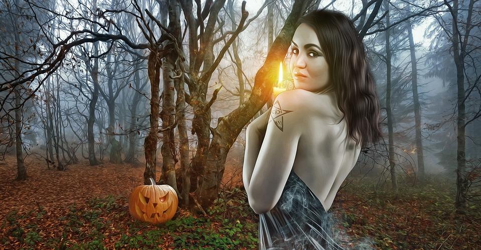 Halloween, Gothic, Goth, Dark, Fantasy, Female, Woman