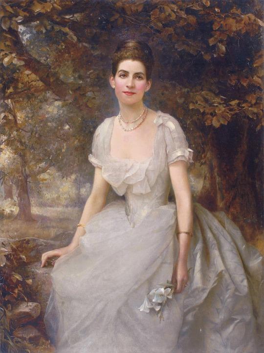 Edward Hughes, Woman, Female, Portrait, Art, Painting