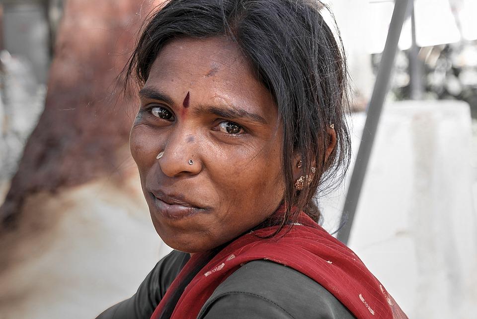 Woman, Portrait, Indian, Face, Smile, Person, Look