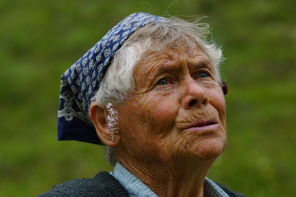 Portrait, Person, Woman, Elderly, People, Face, Wise
