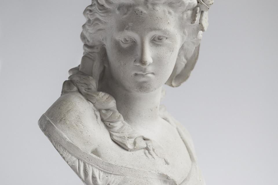 Sculpture, Female, Woman, Bust, Classical, Antique