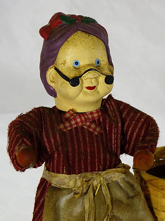 Old, Woman, Rural, Field, Peasant, Costume, Doll
