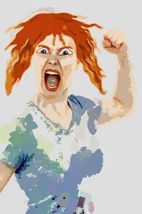 Angry, Female, Fist, Mad, Rage, People, Strike, Woman