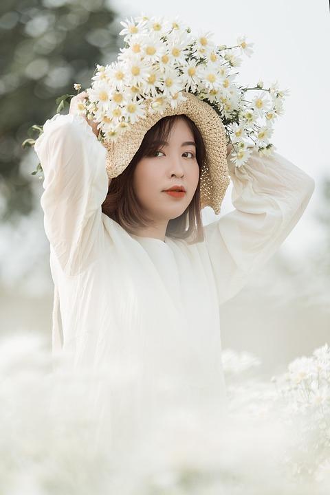 Girl, Beauty, Flowers, Beautiful, Pretty, Woman