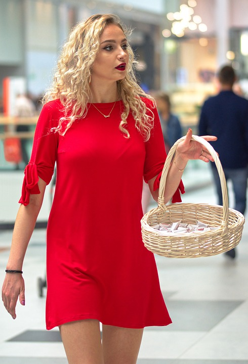 Woman, Young, Girl, Blonde, Sexy, Basket, Candy, Hair