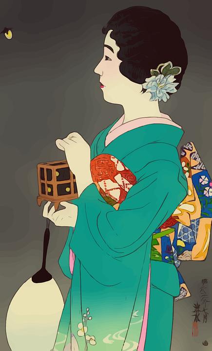 Geisha, Dress, Japanese, Female, Woman, Japan, Girl