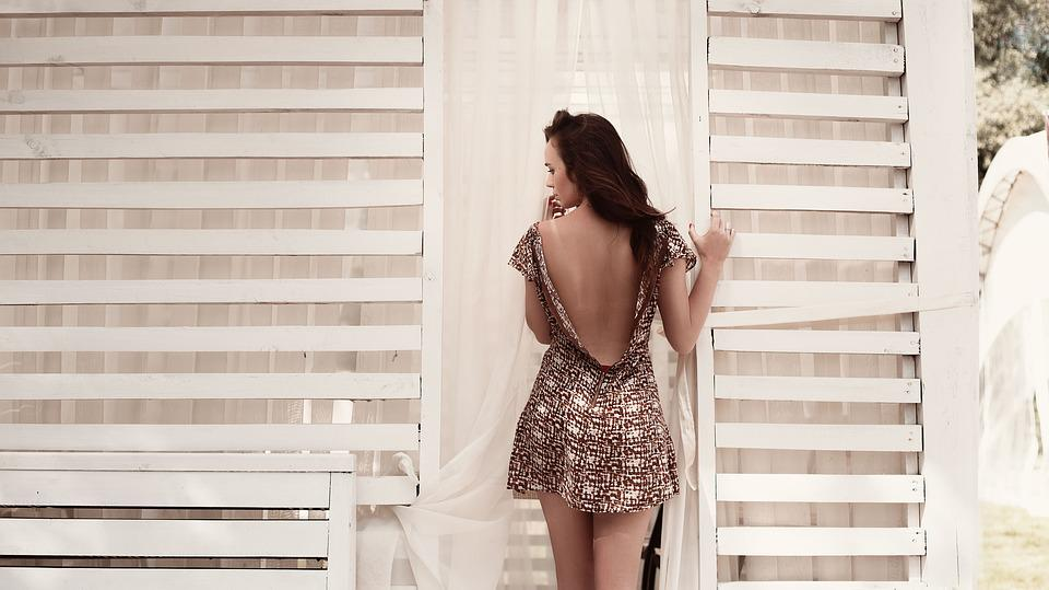 Dress, Back View, Girl, Fashion, Woman, Model, Sexy