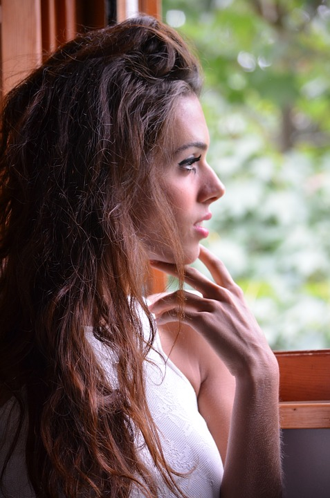 Light, Nature, Forest, Woman, Young, Girl, Window