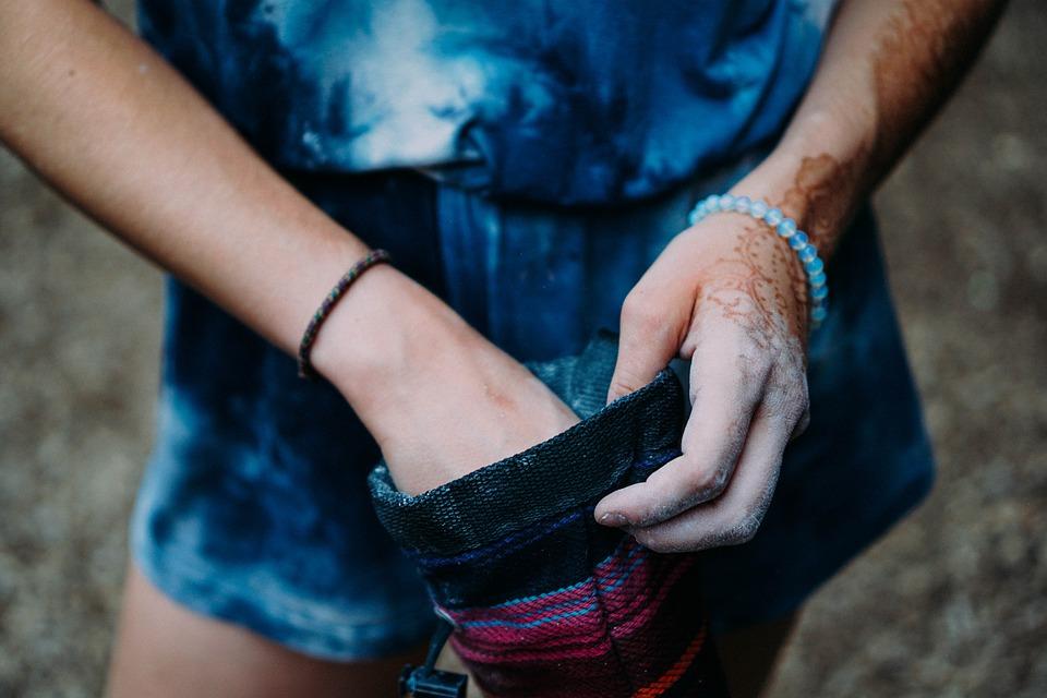 Bag, Dirty, Girl, Hands, Woman