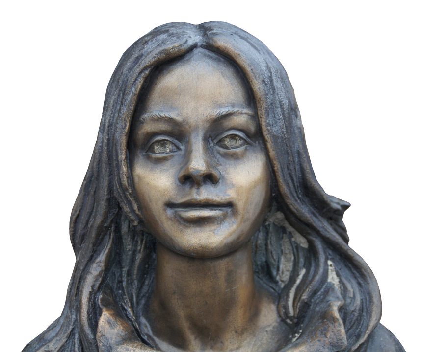 Sculpture, Portrait, Girl, Person, Young Woman, Woman