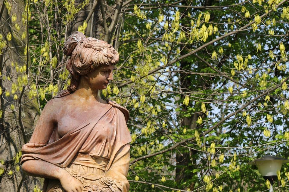 Sculpture, Park, The Statue, Ornament, Green, Woman